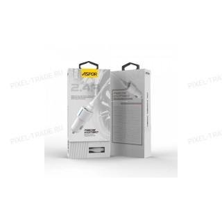 АЗУ Aspor A905 2USB/2.4A + USB кабель lightning.