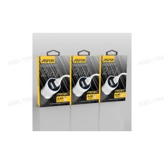 АЗУ Aspor A902 2USB/2.4A + USB кабель Lightning.