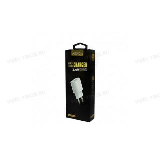 СЗУ блочек Aspor A818PLUS + USB кабель Lightning, 2.4A.
