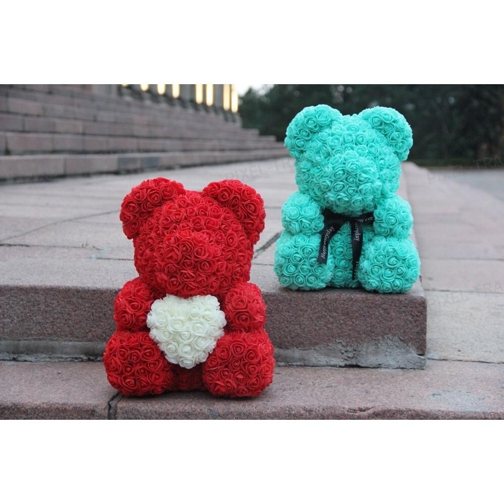 Rosebear Мишка из РОЗ PREMIUM 40 СМ (Красный)