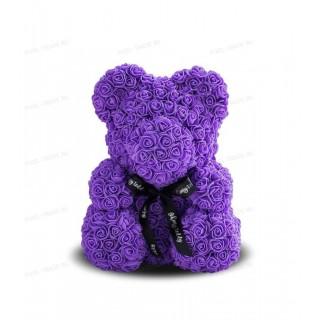 Rosebear Мишка из РОЗ PREMIUM 40 СМ (Фиолетовый)