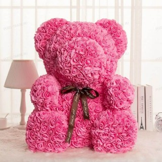 Rosebear Мишка из РОЗ PREMIUM 40 СМ (Розовый)