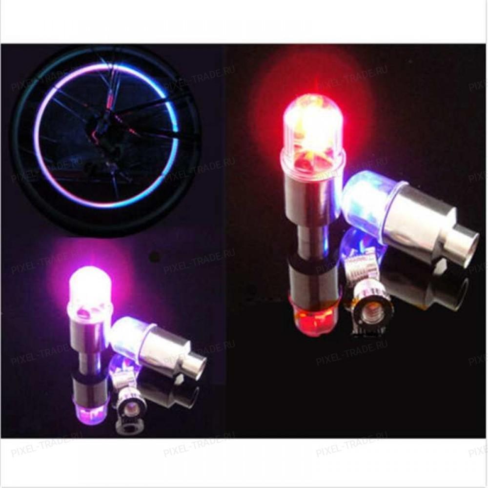 Подсветка для колес велосипеда (малые).Клапан-Лампа.