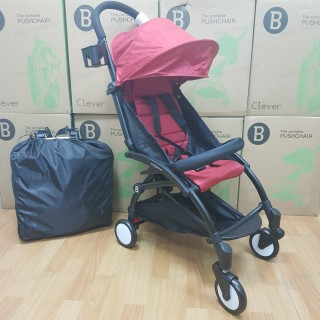 Детская прогулочная коляска трансформер Yoya Babytime Красная