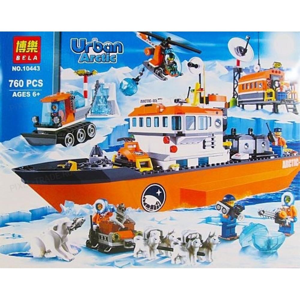 Конструктор Bela City Арктический ледокол 10443 ( City 60062 ) - 760 дет.