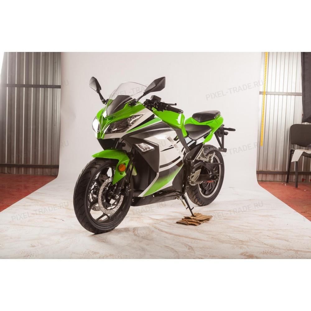 Электромотоцикл Moto Ninja 3000 зеленый