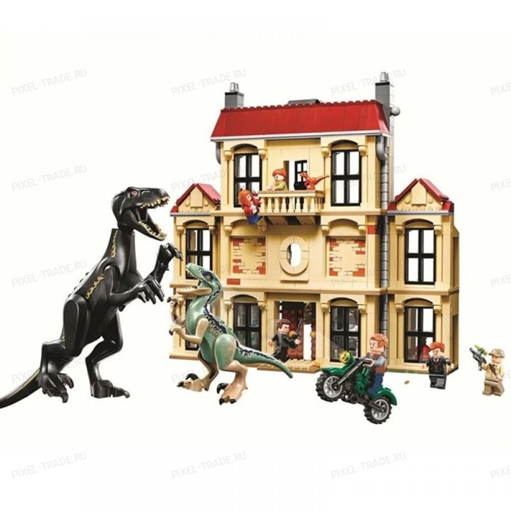 """Конструктор """"Dinosaur World Нападение индораптора в поместье Локвуд"""" BELA 10928 - 1 046 дет."""