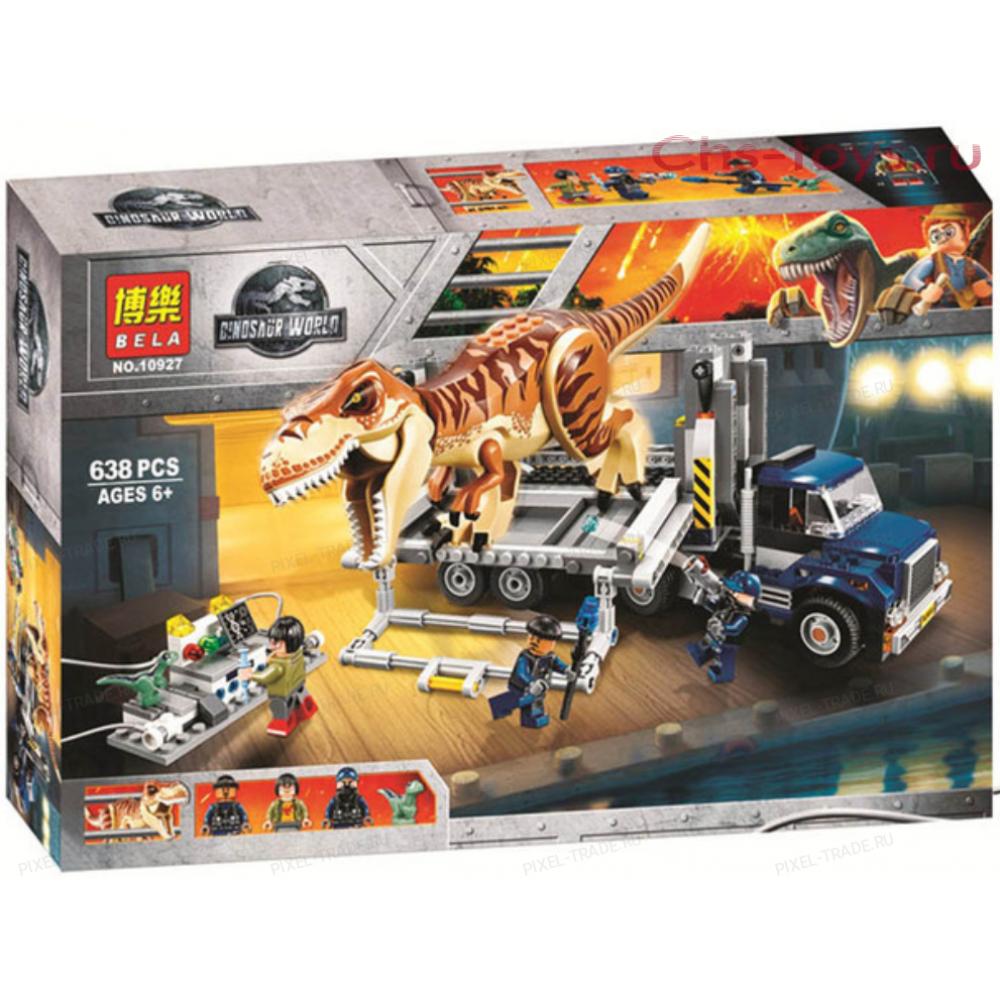 """Конструктор """"Dinosaur World Транспорт для перевозки Ти-Рекс"""" BELA 10927 - 638 дет."""