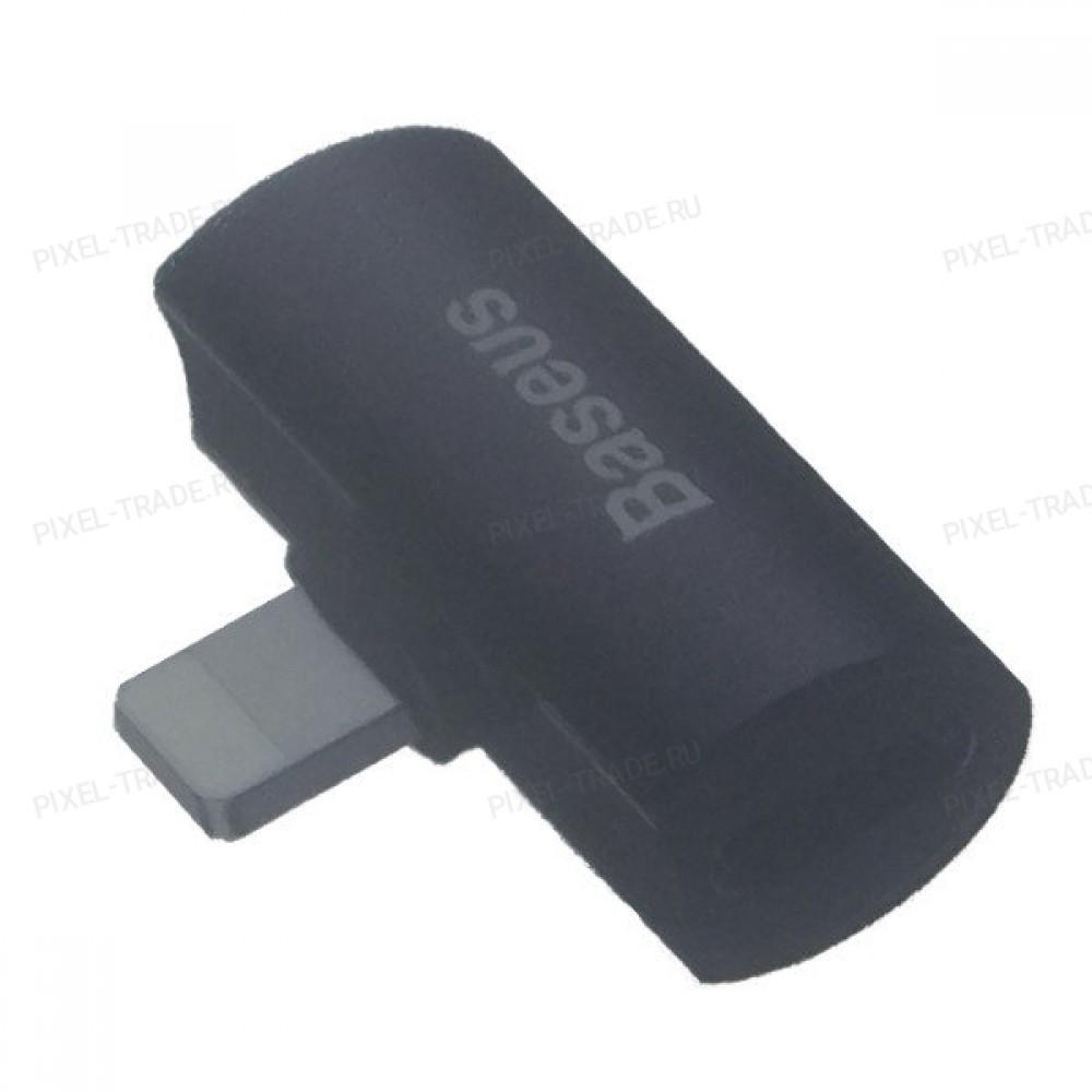 Переходник Baseus Audio Converter L46 iP  to Dual iP Adapter Lightning (Black) CAL46-01