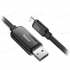 Кабель светящийся Baseus Glowing Data cable USB For Lightning (Black) CALLG-01