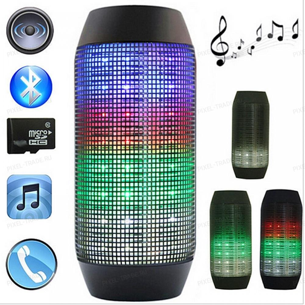Bluetooth Стереоколонка   LED Speaker AE-01