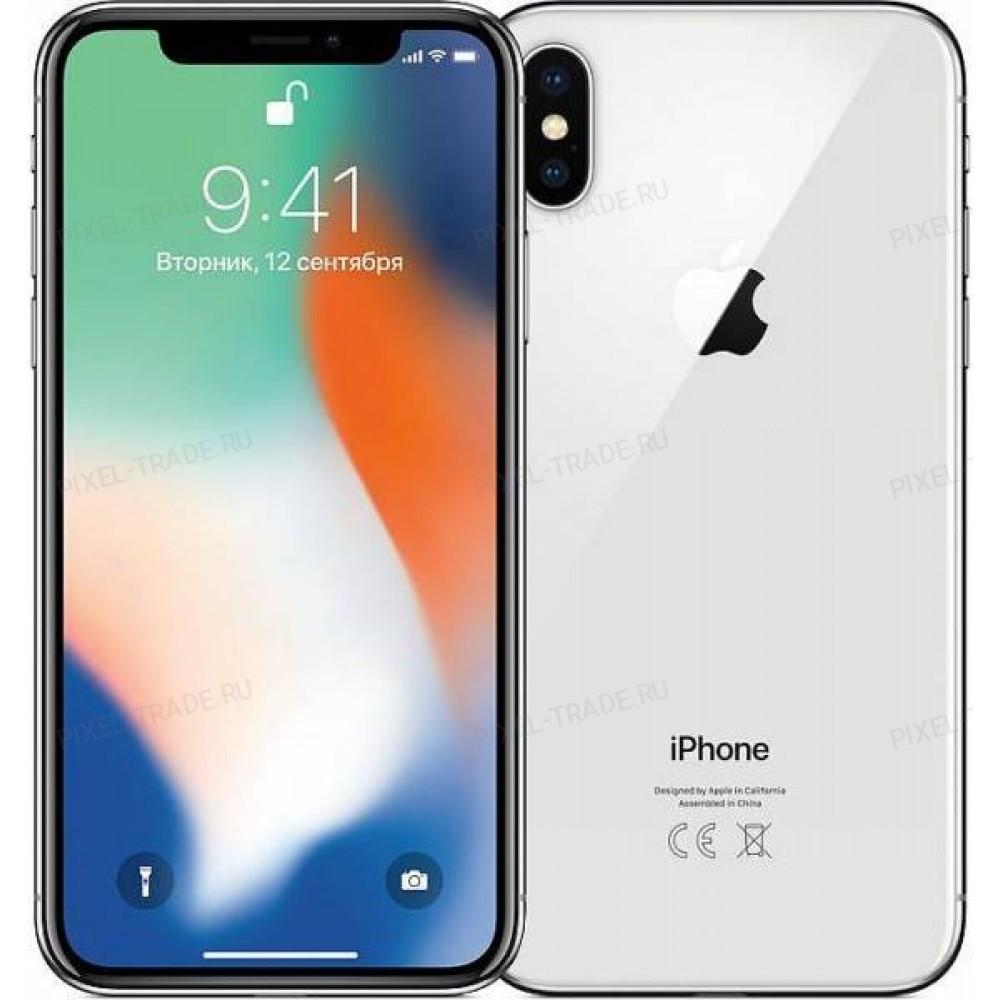 Apple iPhone X 64 Gb Silver (Серебристый)