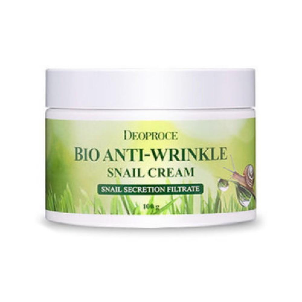 Deoproce Био-крем для лица на основе экстракта муцина улитки Bio Anti-Wrinkle Snail Cream, 100 мл