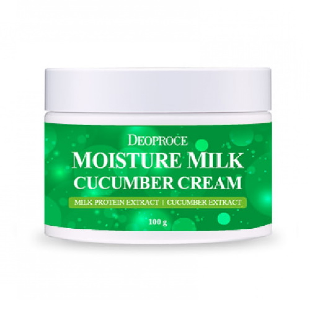 Deoproce Крем для лица увлажняющий с экстрактом огурца Moisture Milk Cucumber Cream, 100 мл
