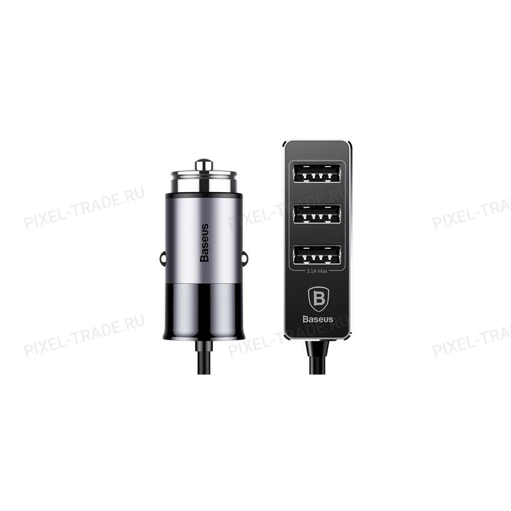 Автомобильное зарядное устройство Baseus Enjoy Together 4 USB Output Car Charger (Black) CCTON-01