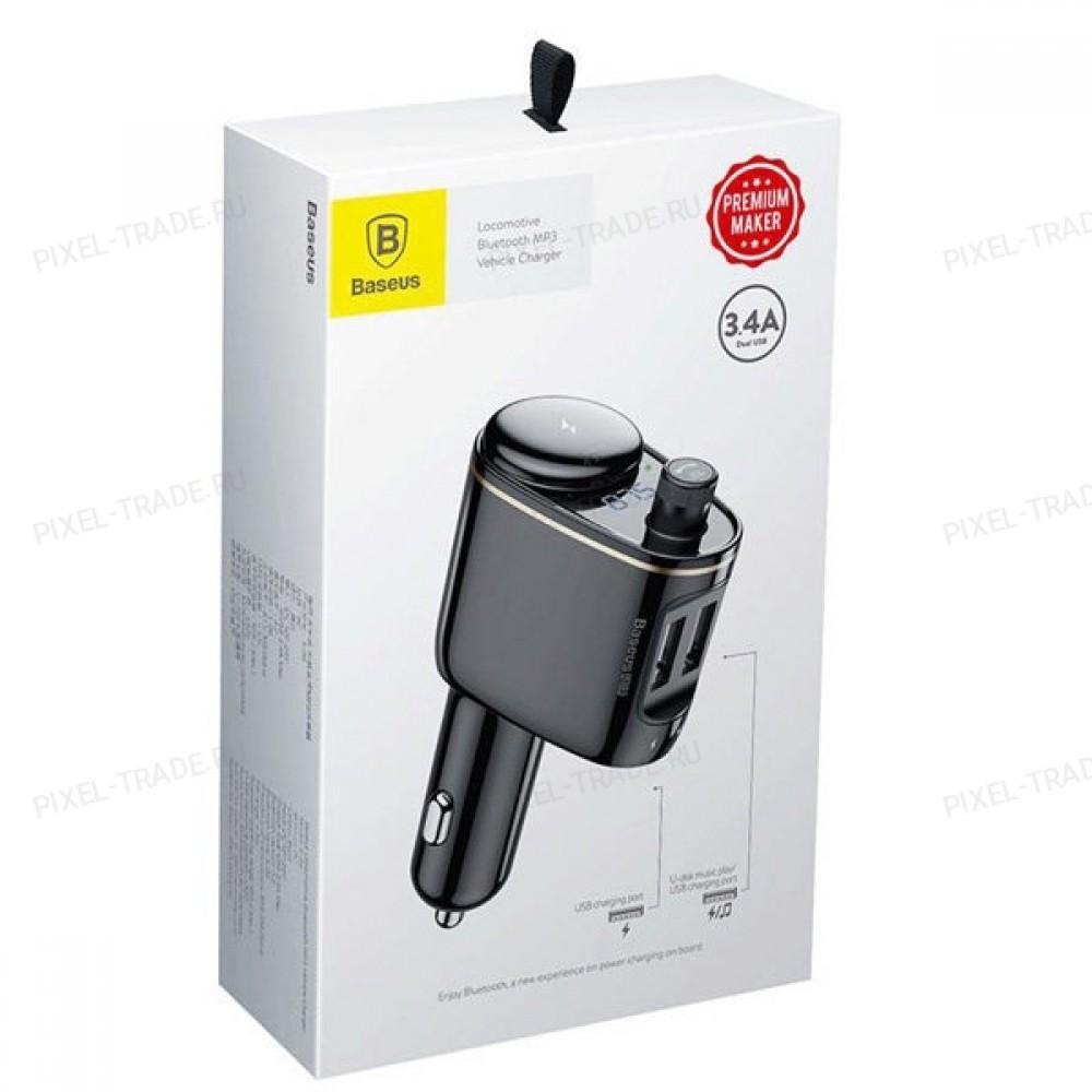 Автомобильное зарядное устройство Baseus Locomotive Bluetooth MP3 Vehicle Charger (Black) CCALL-RH01