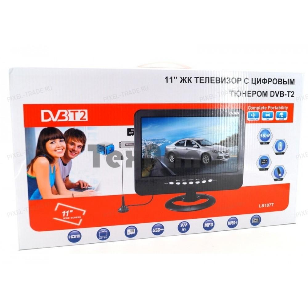 """Автомобильный портативный телевизор с DVB-T2 11"""" LS-107T"""