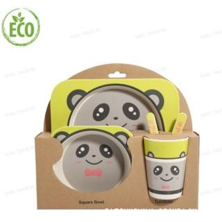 """Бамбуковая посуда для детей """"Панда"""""""