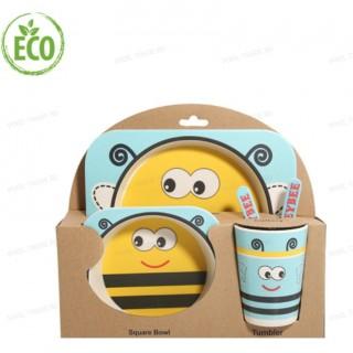 """Бамбуковая посуда для детей """"Пчелка"""""""