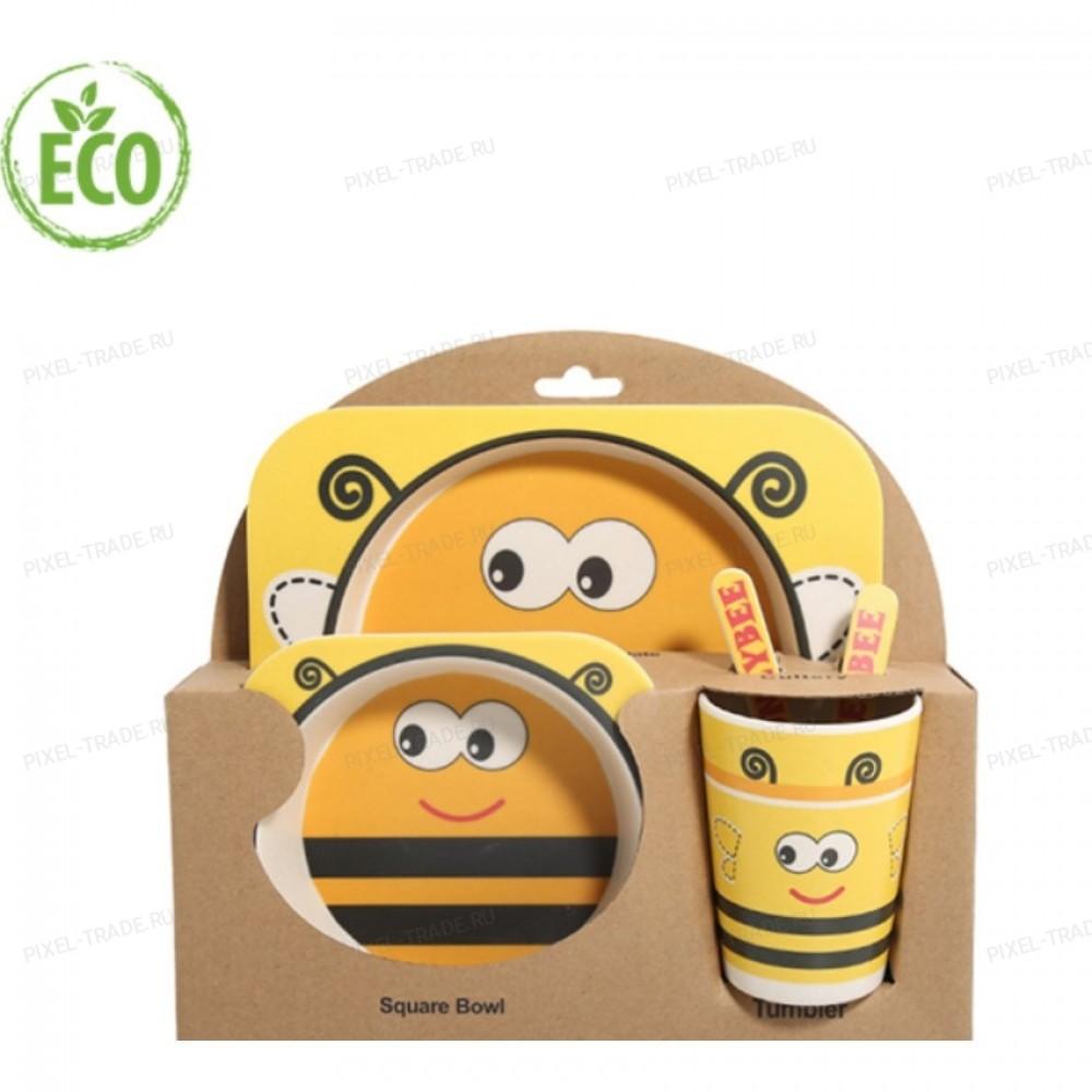 """Бамбуковая посуда для детей """"Пчелка - 2"""""""