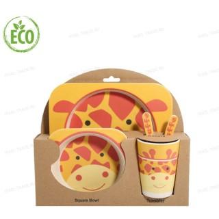 """Бамбуковая посуда для детей """"Жираф"""""""