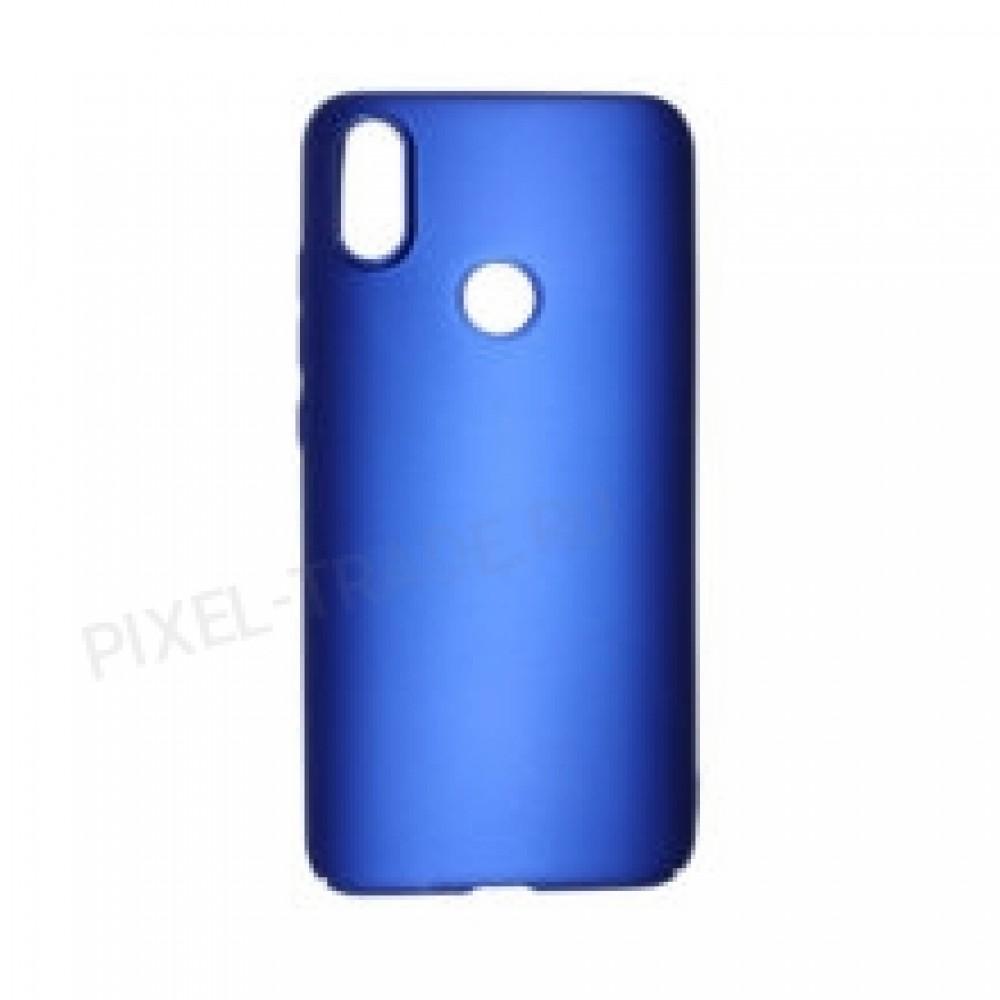 Накладка пластиковая Soft-touch для Xiaomi Mi Max 3 (Синий)