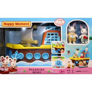 Набор Happy Moment На корабле ( 2 зверька )