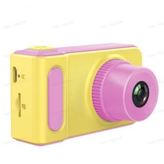 Детский цифровой мини фотоаппарат Photo Camera Kids Mini Digital Розовый