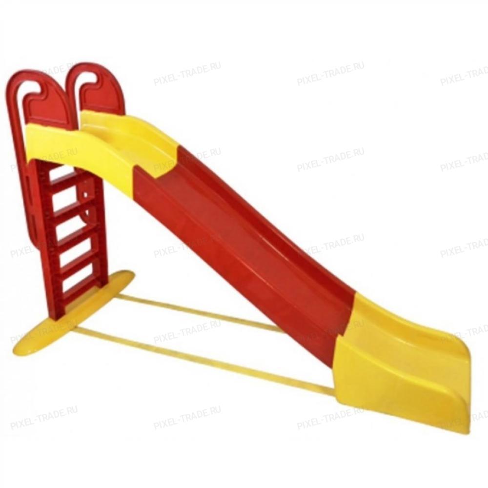Детская Горка для дачи большая (Желто-Красная)