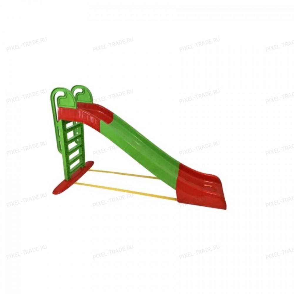 Детская Горка пластиковая Большая (Красно-Зеленая)