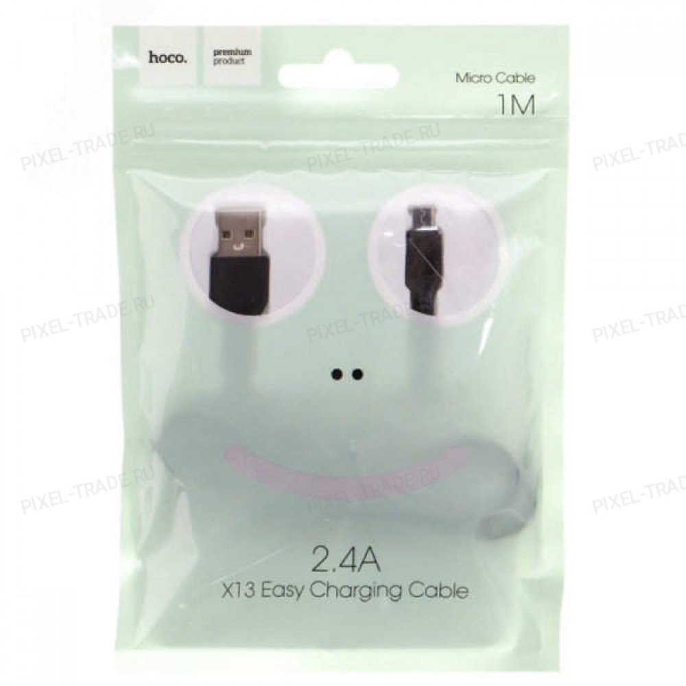 Кабель HOCO X13 Easy charged Micro-USB (L=1M) Black