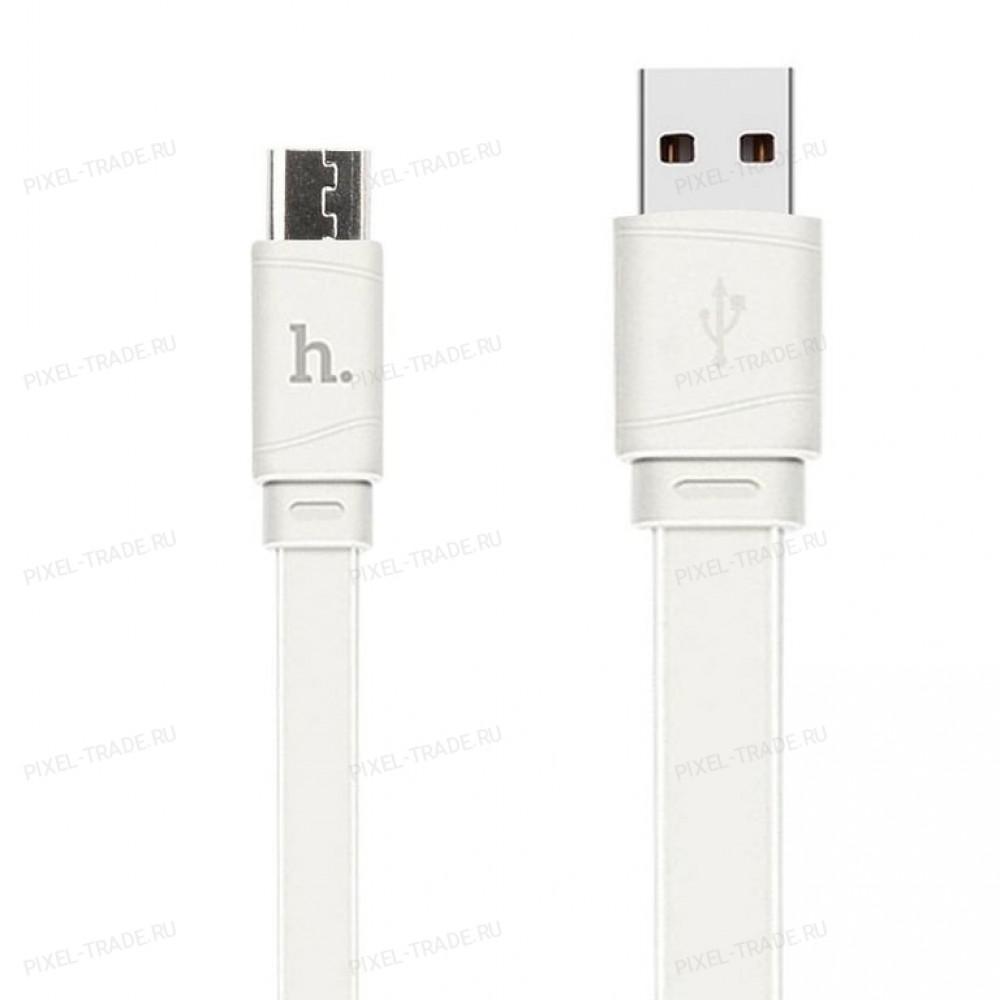 Кабель HOCO X5 Bamboo Micro-USB (L=1M) White