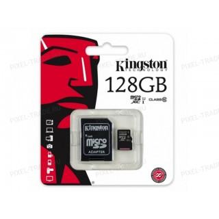 """Micro SD накопитель с переходником """"Кингston"""" 128GB"""