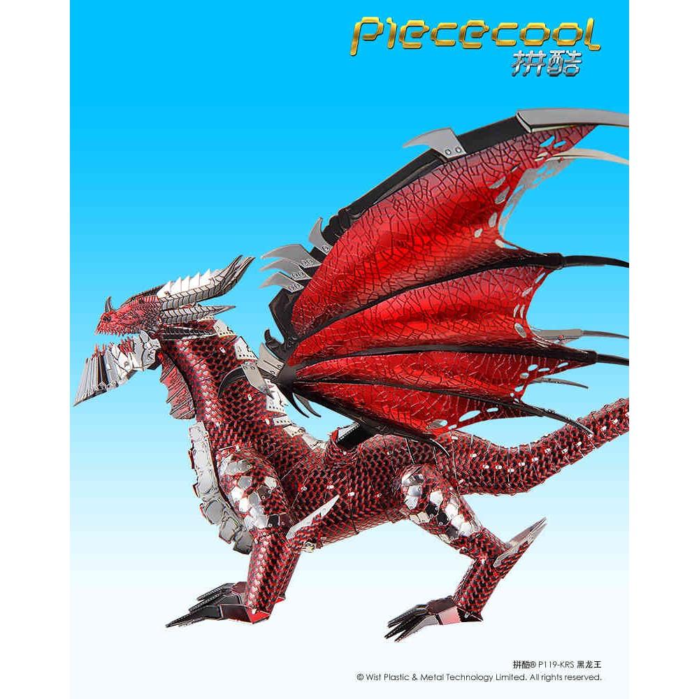 3D головоломка металлическая Piececool The Black Dragoon P119-KRS