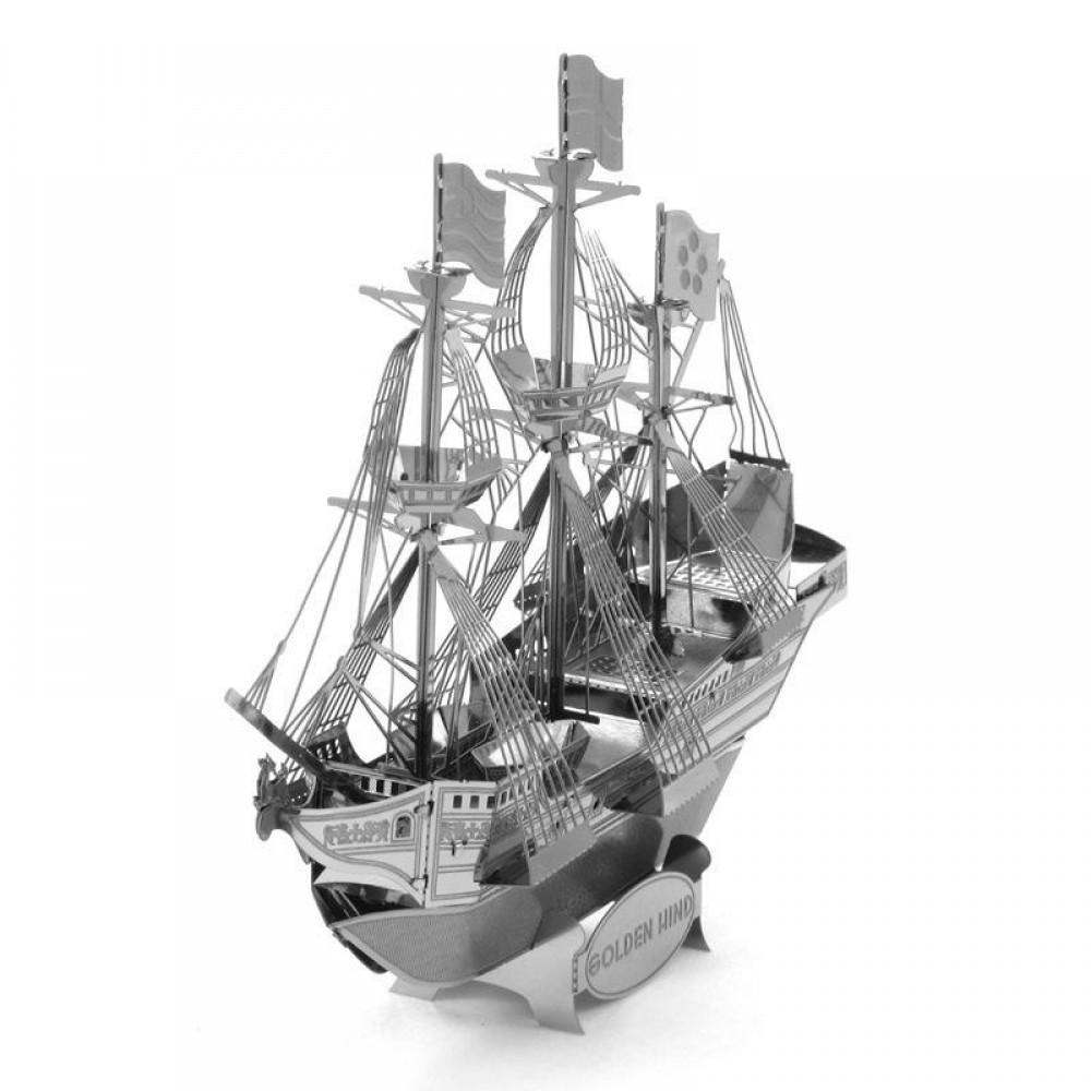 3D конструктор металлический Aipin Golden Hind