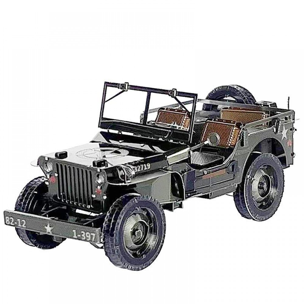 3D конструктор металлический Aipin Jeep