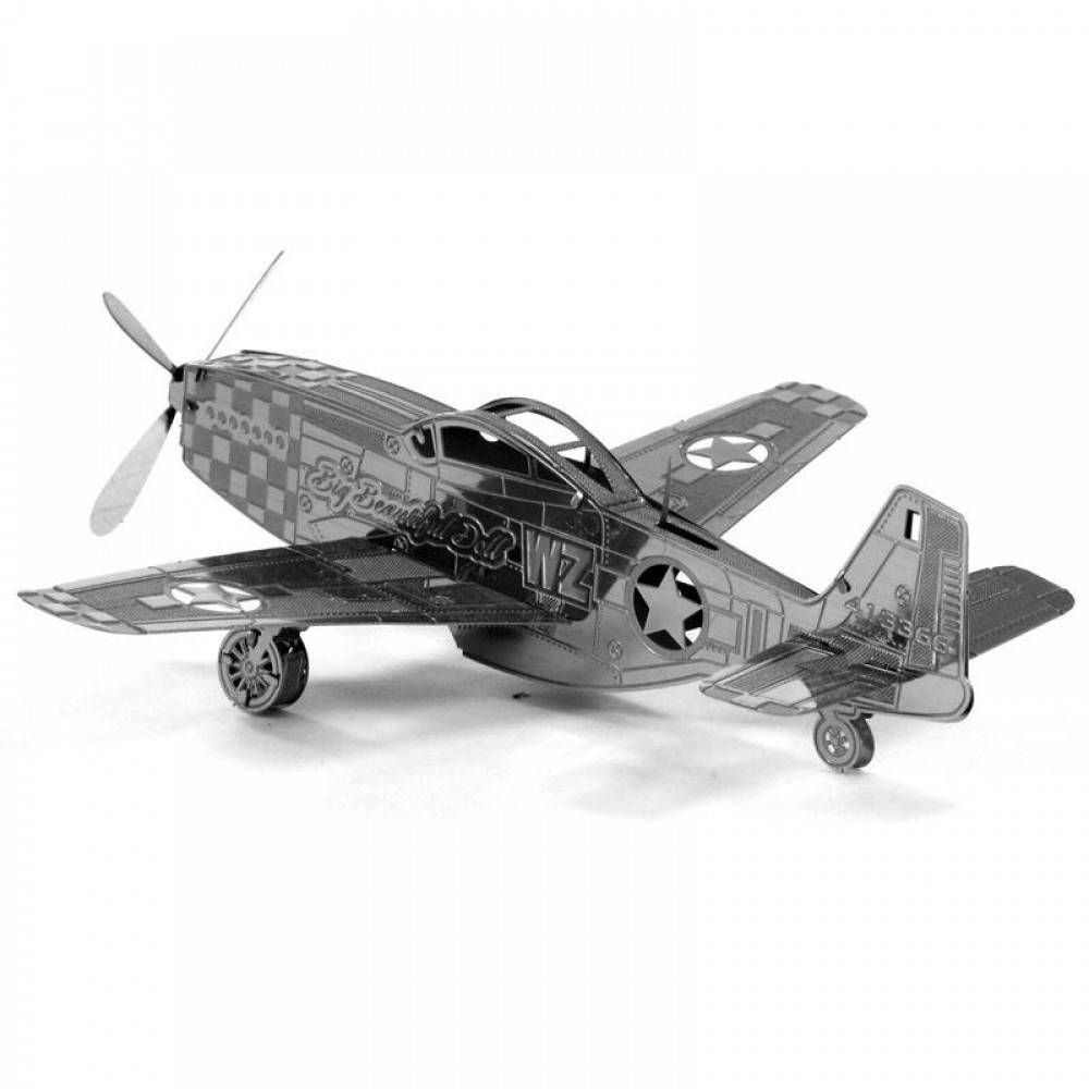 3D конструктор металлический Aipin Mustang P-51