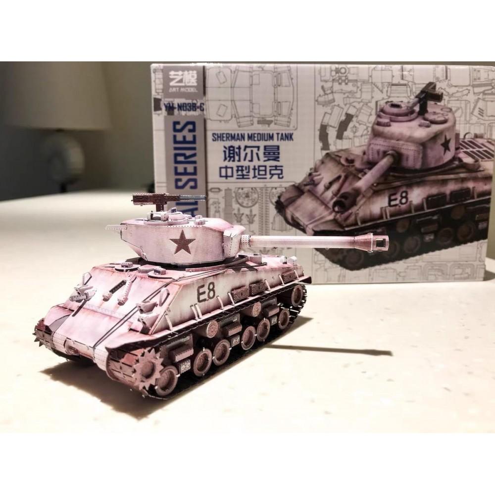 3D конструктор металлический Art Model Sheman Medium Tank YM-N038-C