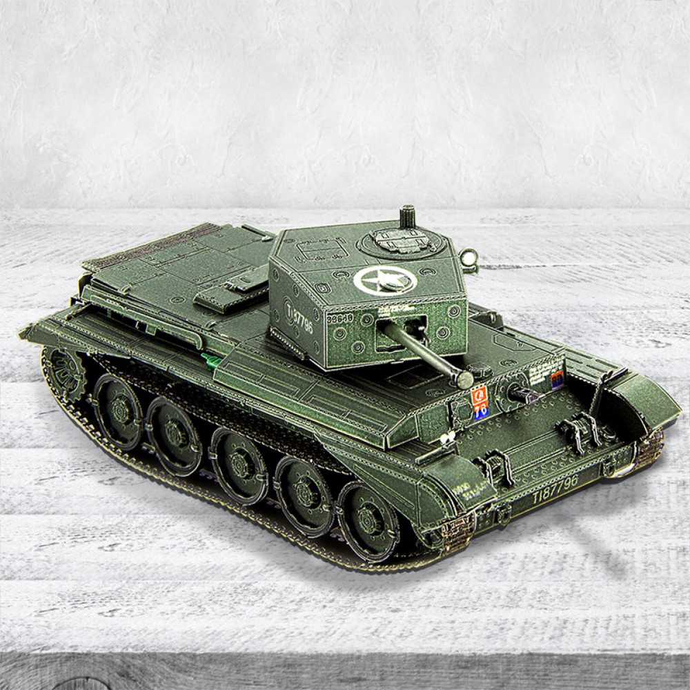 3D конструктор металлический BTC Models Tank Cromwell  Battle of Villers-Bocage XT-2
