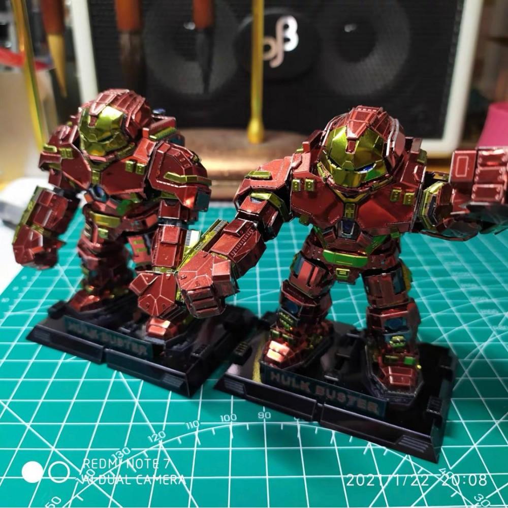 3D конструктор металлический Hulk Buster KR001-RGK