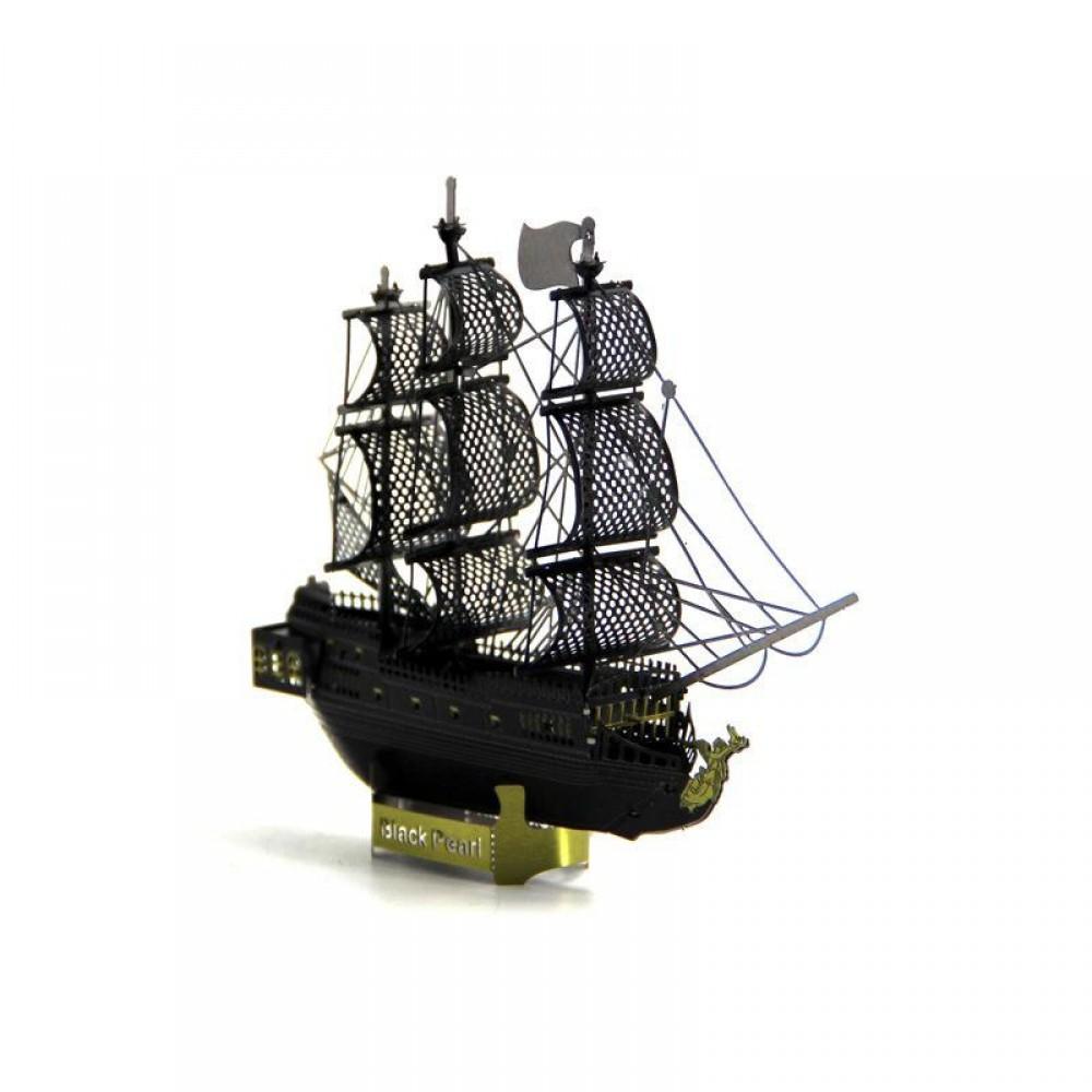 3D конструктор металлический MetalHead Black Pearl Pirate Ship KM018