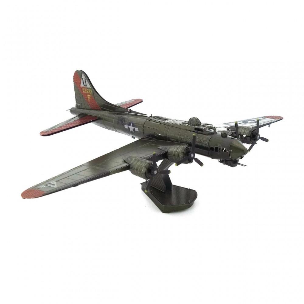 3D конструктор металлический MetalHead Bomber B17 KM018