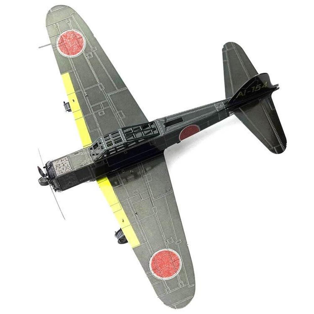 3D конструктор металлический MetalHead Mitsubishi Zero Fighter Airplane