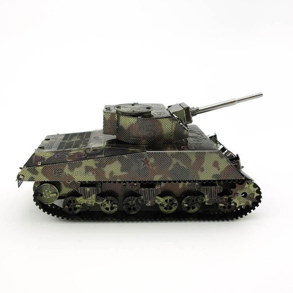 3D конструктор металлический MetalHead Sherman Tank KM070