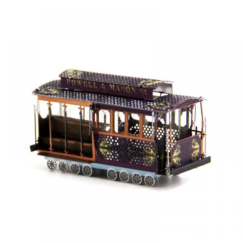 3D конструктор металлический MetalHead Sightseeing  Tram KM020