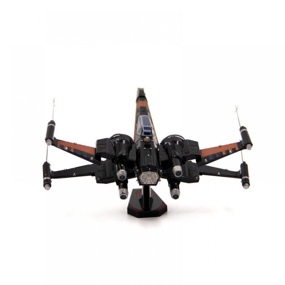 3D конструктор металлический MetalHead Star Wars Force Awakens Poe Dameron's X-Wing Fighter KM103