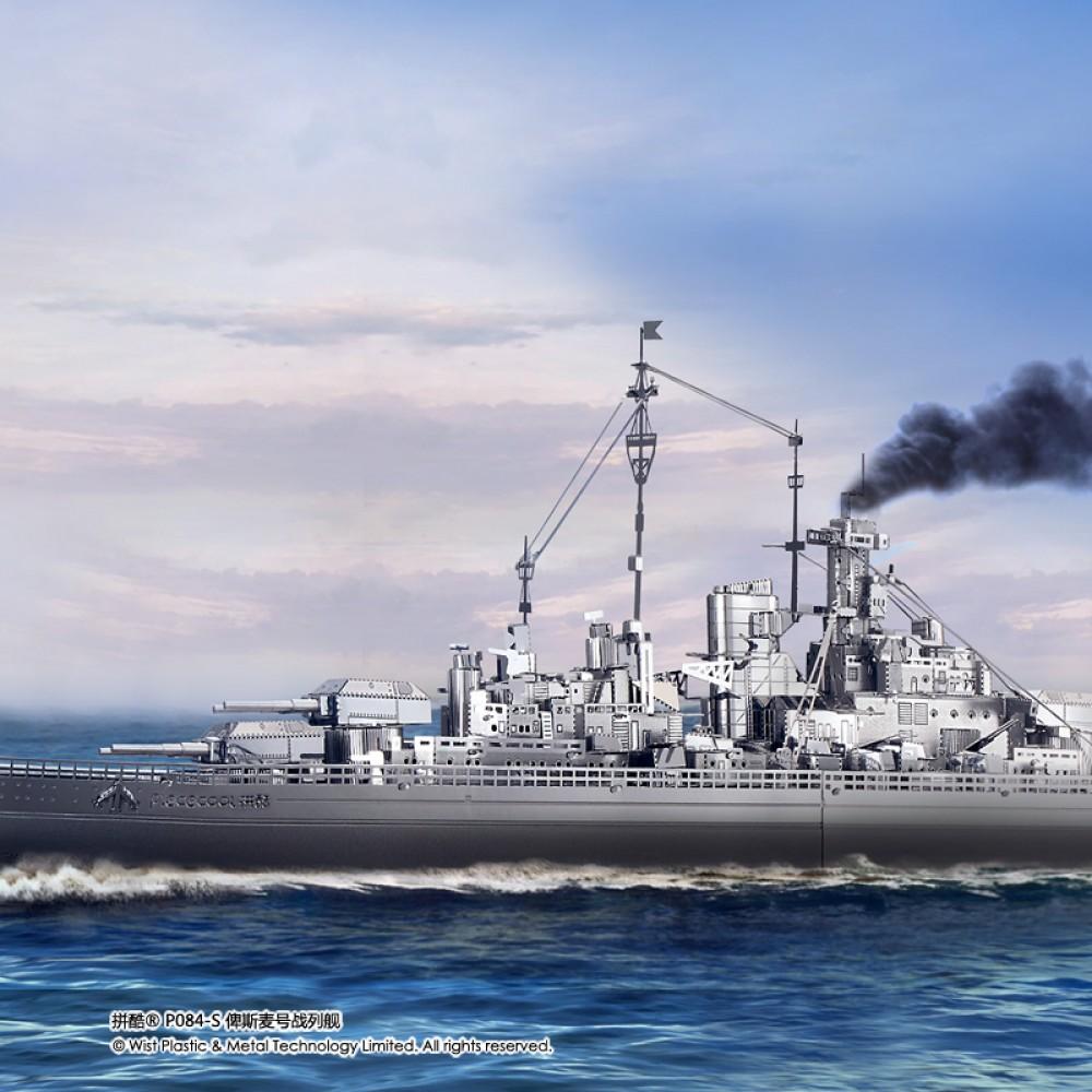 3D конструктор металлический Piececool Bismarck Battleship P084-S