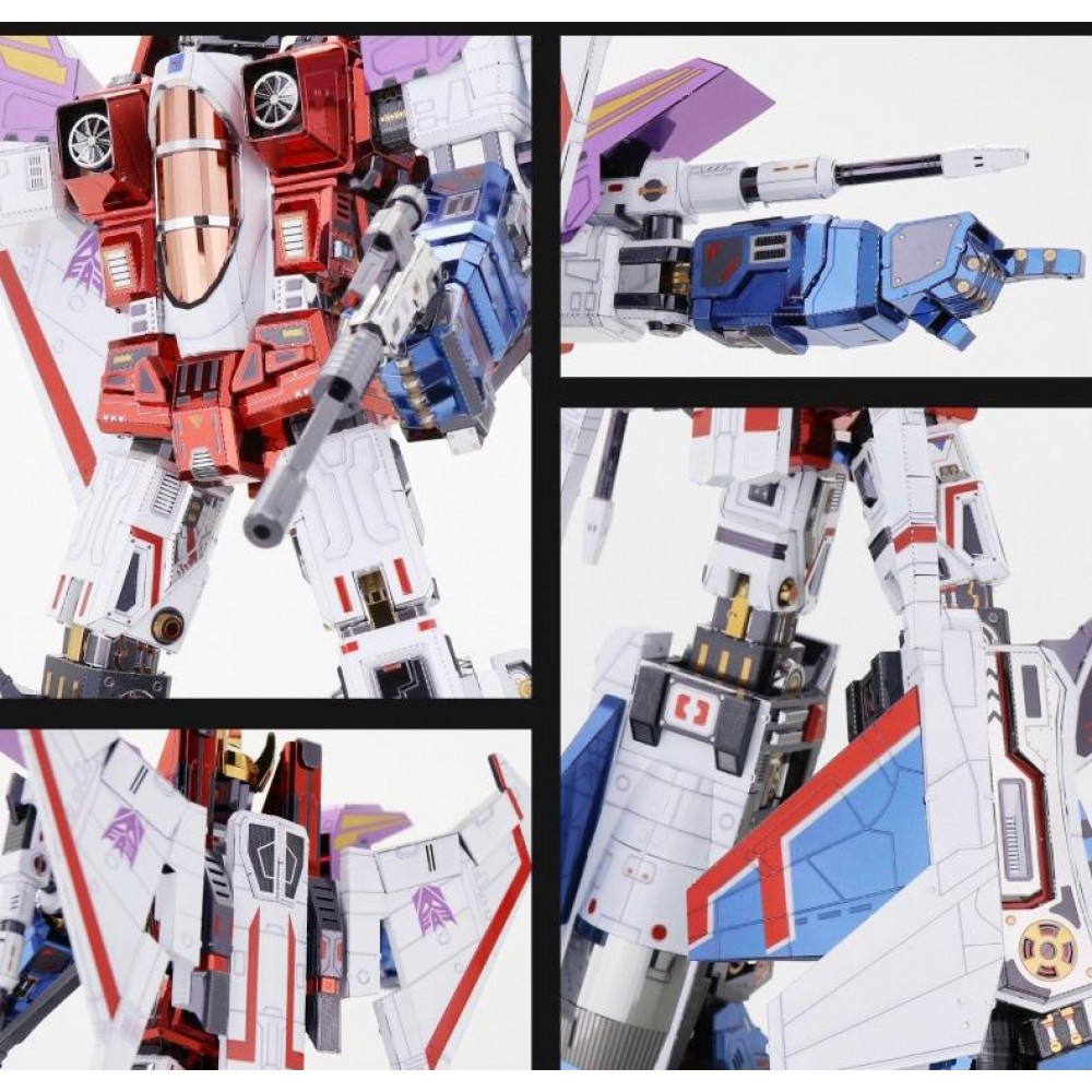 3D конструктор металлический Transformers G1 Starscream YM-L078-C