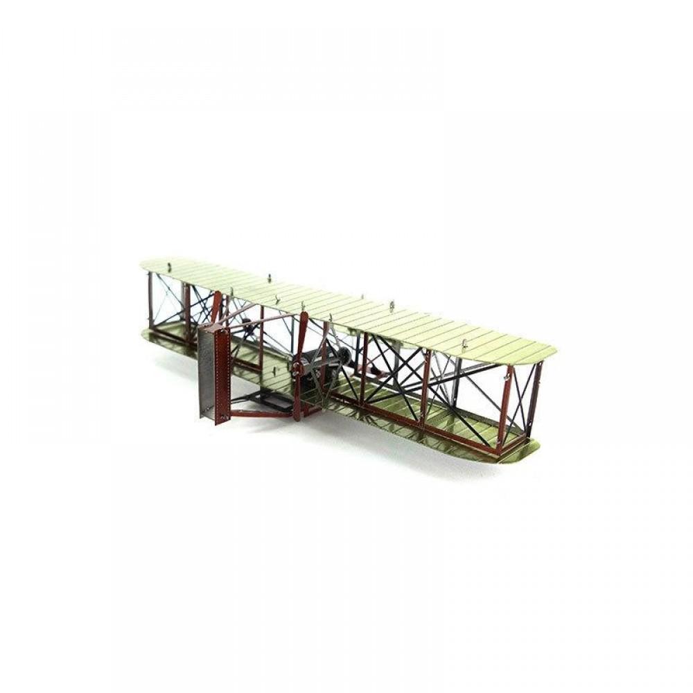 3D конструктор металлический MetalHead Wright Brothers Airplane KM039