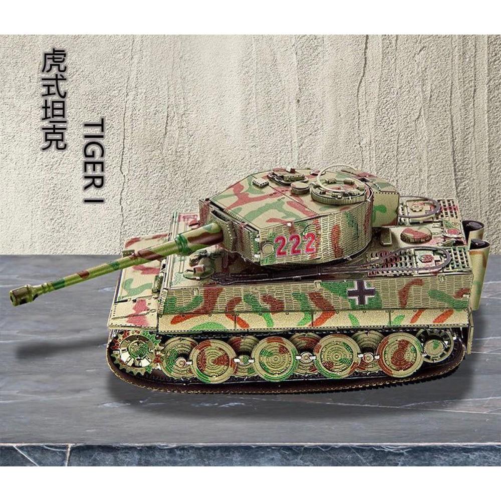3D конструктор металлический BTC Models Tank Tiger 1 XT-1